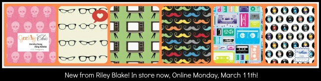 Check out these new cotton prints from Riley Blake.